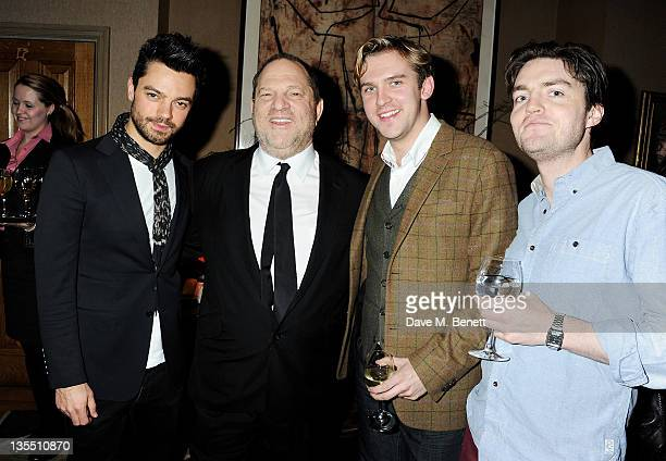 Dominic Cooper Harvey Weinstein Dan Stevens and Tom Burke attend a VIP Screening of 'The Artist' hosted by the Weinstein Company at Charlotte Street...