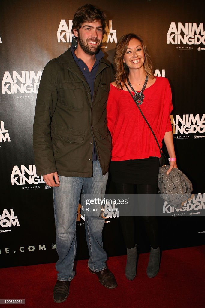 Dominic Douglas Garden and Kristie Jandric arrives at the premiere of 'Animal Kingdom' at Hoyts Melbourne Central on May 24, 2010 in Melbourne, Australia.