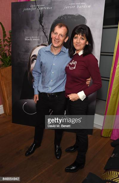 Dominic Freud and Emma Freud attend a screening of 'mother' hosted by Collette Cooper and Paramount Pictures in collaboration with Edible Cinema at...