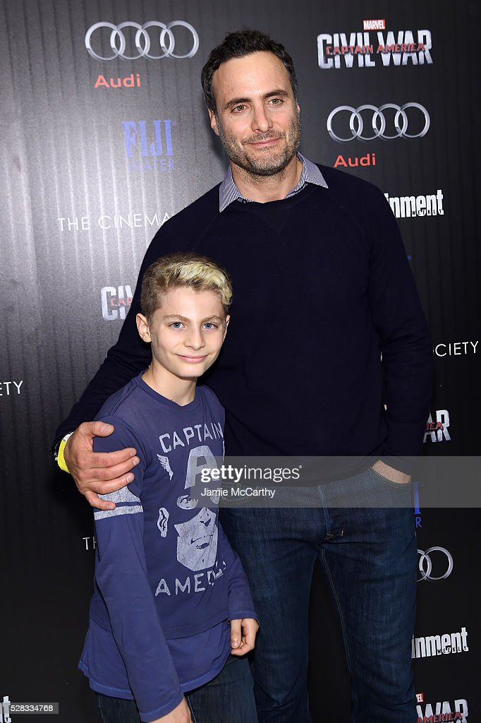 <a gi-track='captionPersonalityLinkClicked' href=/galleries/search?phrase=Dominic+Fumusa&family=editorial&specificpeople=3208196 ng-click='$event.stopPropagation()'>Dominic Fumusa</a> (R) and Caleb Fumusa attend the screening Of Marvel's 'Captain America: Civil War' hosted by The Cinema Society with Audi & FIJI at Henry R. Luce Auditorium at Brookfield Place on May 4, 2016 in New York City.