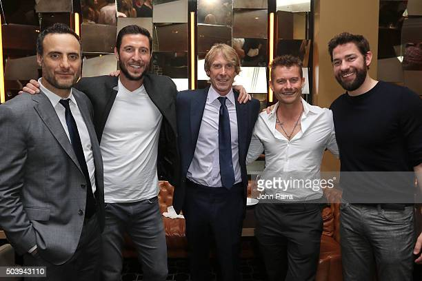 Dominic Fumusa Pablo Schreiber Director Michael Bay James Badge Dale and John Krasinski attend the after party for the Miami Fan Screening of the...