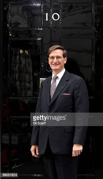 Dominic Grieve the Attorney General arrives in Downing Street on May 12 2010 in London England After five days of negotiation a Conservative and...