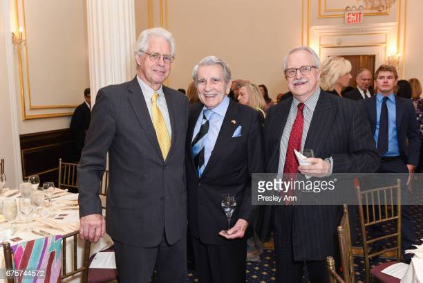 Dominic Habsburg Tom McGrath and Robert Wessely attend Inaugural AAF Cultural Exchange Award Luncheon at The Metropolitan Club on May 1 2017 in New...