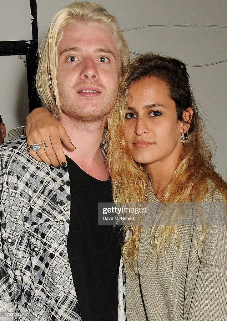 Dominic Jones (L) and <a gi-track='captionPersonalityLinkClicked' href=/galleries/search?phrase=Alice+Dellal&family=editorial&specificpeople=4261908 ng-click='$event.stopPropagation()'>Alice Dellal</a> attend the Palace Skateboards x Reebok collaboration launch party at the Victorian Vaults on July 11, 2013 in London, England.
