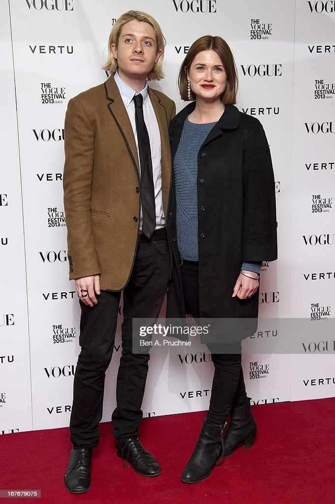 Dominic Jones and Bonnie Wright attend the opening party for The Vogue Festival in association with Vertu at Southbank Centre on April 27, 2013 in London, England.