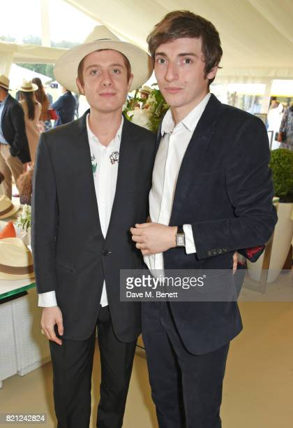Dominic Jones and Tomo Campbell attend the JaegerLeCoultre Gold Cup Polo Final at Cowdray Park on July 23 2017 in Midhurst England