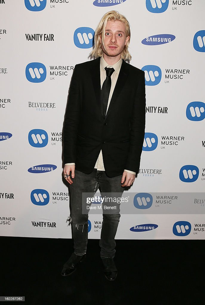 Dominic Jones attends the Warner Music Group Post BRIT Party In Association With Samsung at The Savoy Hotel on February 20, 2013 in London, England.