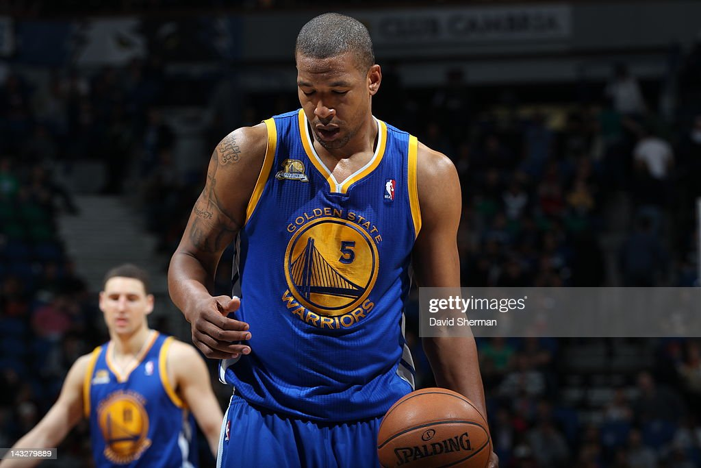 Dominic McGuire of the Golden State Warriors is seen during the game between the Minnesota Timberwolves and the Golden State Warriors on April 22...