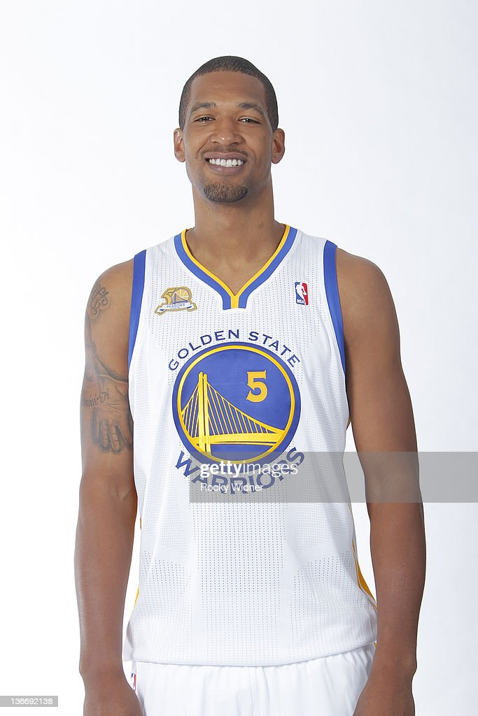 Dominic McGuire of the Golden State Warriors poses for a portrait during an additional media day at Oracle Arena on December 17 2011 in Oakland...