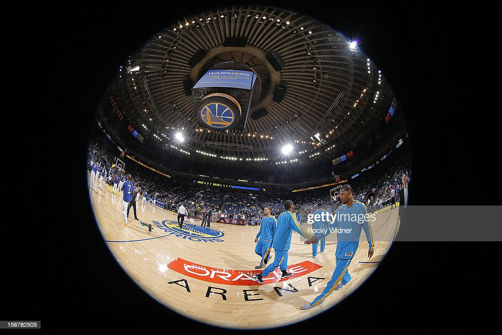 Dominic McGuire of the New Orleans Hornets before facing off against the Golden State Warriors on December 18 2012 at Oracle Arena in Oakland...