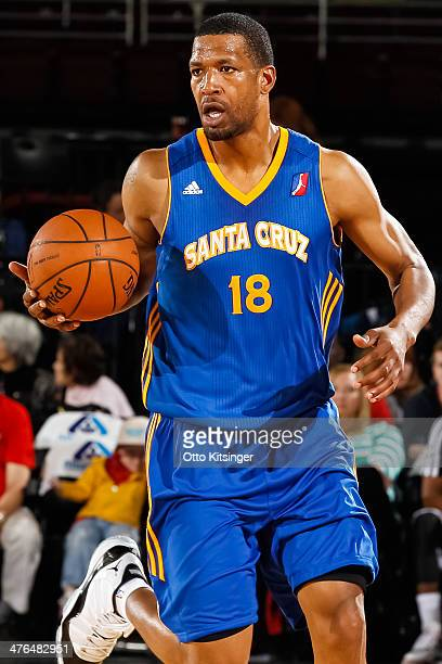 Dominic McGuire of the Santa Cruz Warriors controls the ball during an NBA DLeague game against the Idaho Stampede on February 28 2014 at CenturyLink...