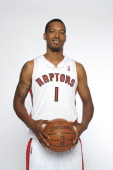 Dominic McGuire of the Toronto Raptors poses for a portrait during a Media Day on October 1 2012 in Toronto Canada NOTE TO USER User expressly...