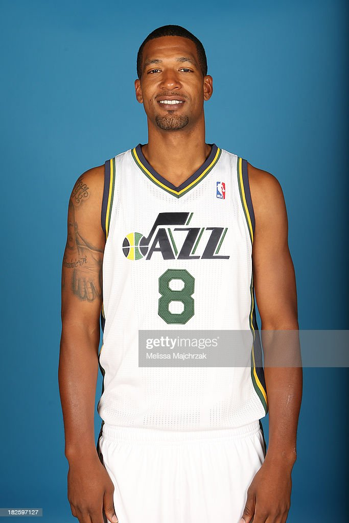 Dominic McGuire of the Utah Jazz poses for a photo during 2013 Media Day at Zions Basketball Center on September 30 2013 in Salt Lake City Utah NOTE...