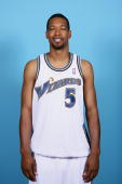Dominic McGuire of the Washington Wizards poses for a portrait during 2009 NBA Media Day at the Verizon Center on September 28 2009 in Washington DC...