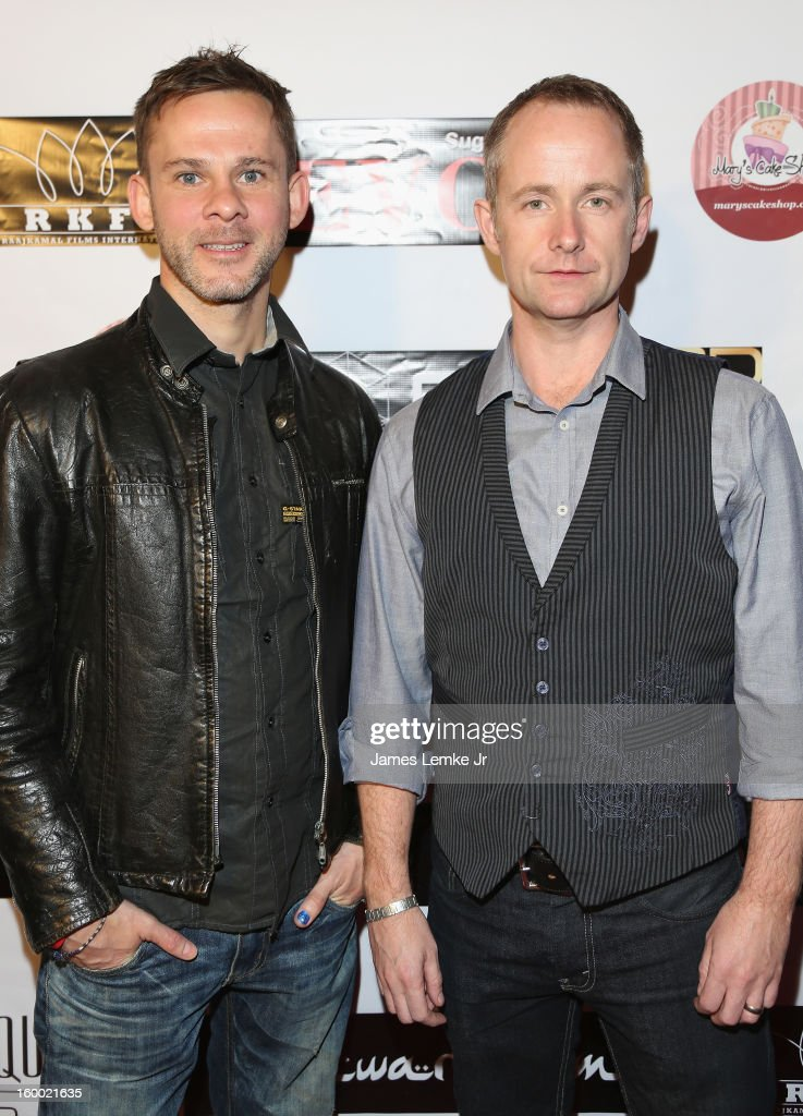 Dominic Monaghan and Billy Boyd attend the 'Vishwaroopam' premiere held at the Pacific Theaters at the Grove on January 24 2013 in Los Angeles...
