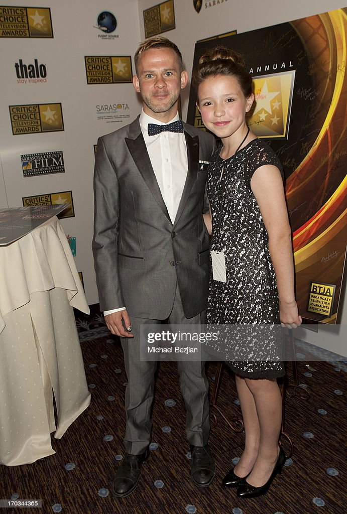 Dominic Monaghan and Rita Rose attend Critics' Choice Television Awards VIP Lounge on June 10, 2013 in Los Angeles, California.