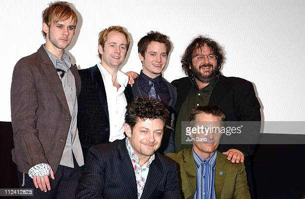Dominic Monaghan Billy Boyd Elijah Wood Director Peter Jackson Andy Serkis and Viggo Mortensen