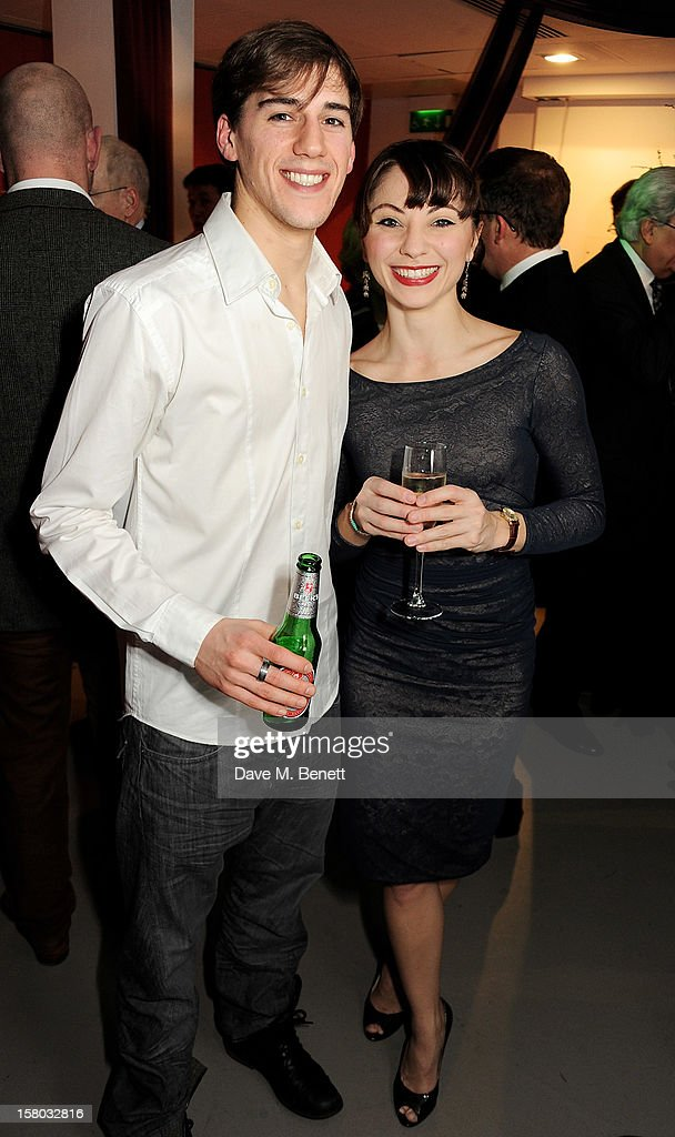 Dominic North (L) and Hannah Vassallo attend an after party following the press night performance of Matthew Bourne's Sleeping Beauty at Sadler's Wells Theatre on December 9, 2012 in London, England.