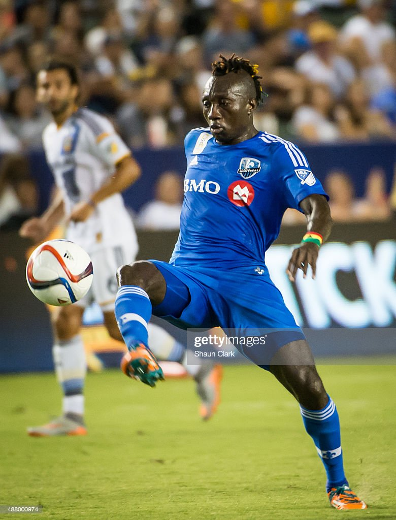 Dominic Oduro #7 of Montreal Impact controls the ball during Los Angeles Galaxy's MLS match against Montreal Impact at the StubHub Center on September 12, 2015 in Carson, California. The match ended in 0-0 tie