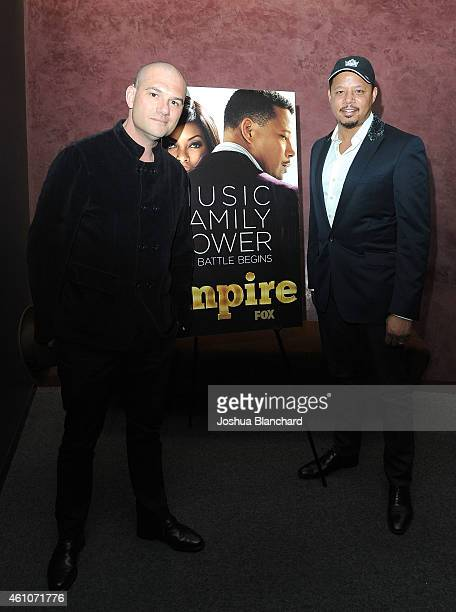 Dominic Patten and Terrence Howard arrive at Deadline's Awardsline Screening of Fox TV's 'Empire' at Landmark Theatre on January 5 2015 in Los...