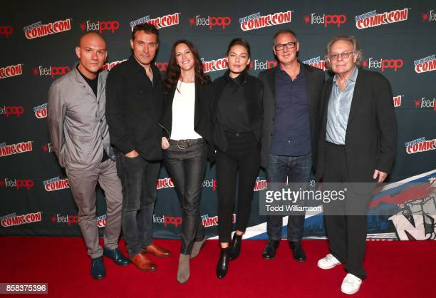 Dominic Patten Rufus Sewell Isa Dick Hackett Alexa Davalos Dan Percival and Eric Overmyer attend 'The World of Philip K Dick' The Man in the High...