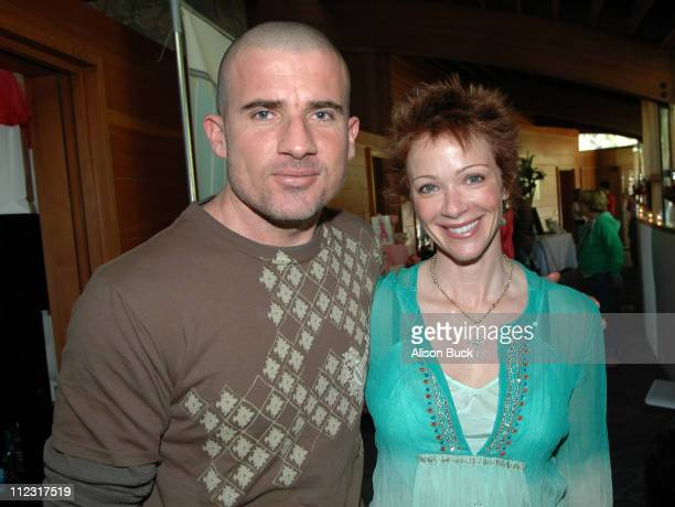 Dominic Purcell and Lauren Holly during Golden Globes Style Lounge Presented by Kari Feinstein PR Day 2 in Los Angeles California United States