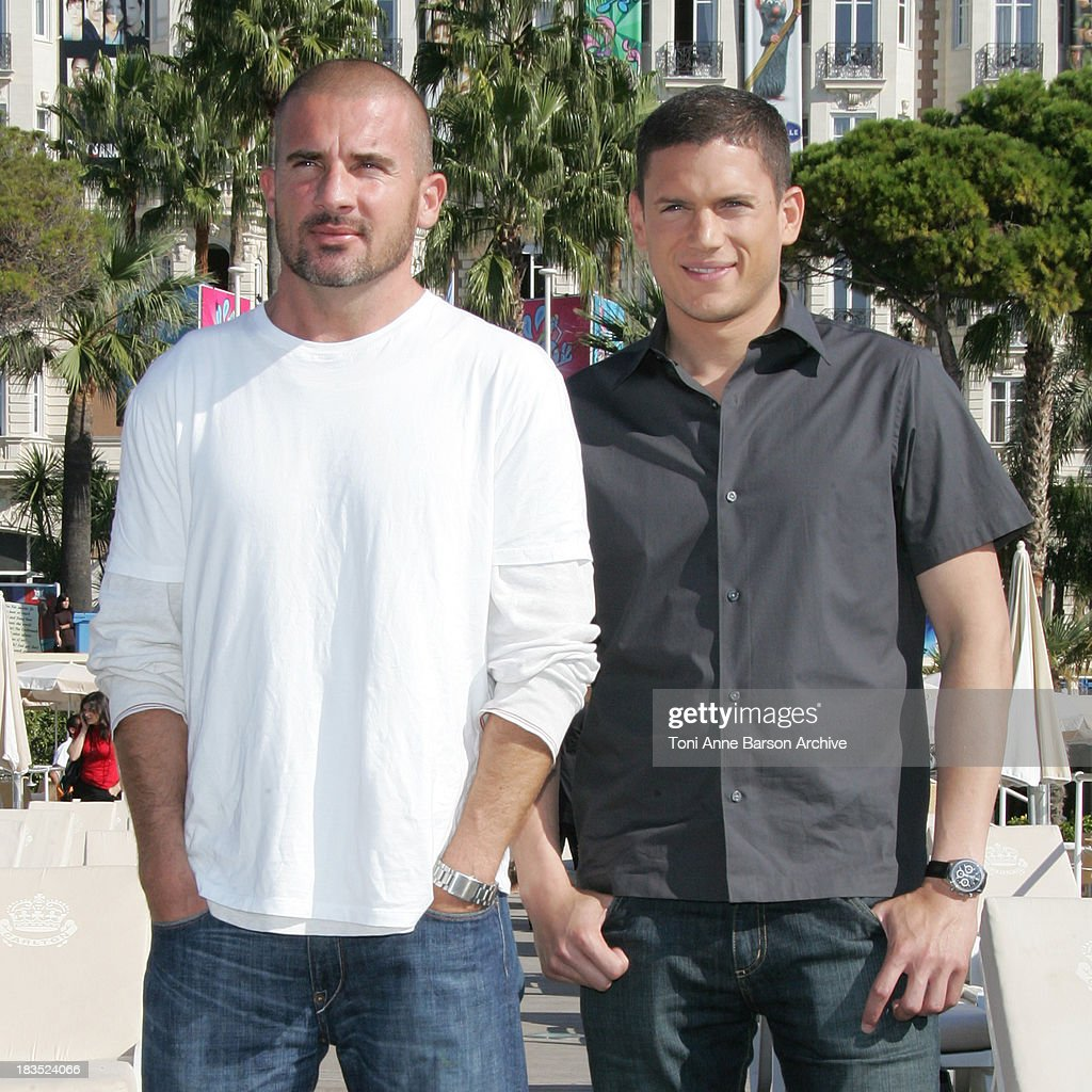 Dominic Purcell and Wentworth Miller during Mipcom 2006 Twentieth Century Fox Television Distribution brings the stars from the worldwide hit Prison...