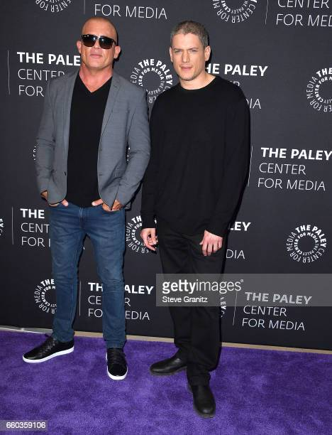 Dominic PurcellWentworth Miller arrives at the 2017 PaleyLive LA Spring Season 'Prison Break' Screening And Conversation at The Paley Center for...
