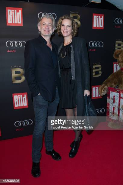 Dominic Raacke and Alexandra Rohleder attend the BILD 'Place to B' Party at Grill Royal on February 8 2014 in Berlin Germany