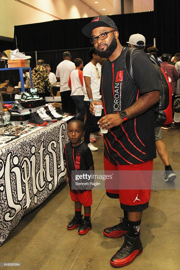Dominic Roundtree Jr. (L) and Dominic Roundtree Sr. attend SneakerCon presented by Sprite, Rush Card, & FDA during the 2016 BET Experience at Los Angeles Convention Center on June 25, 2016 in Los Angeles, California.