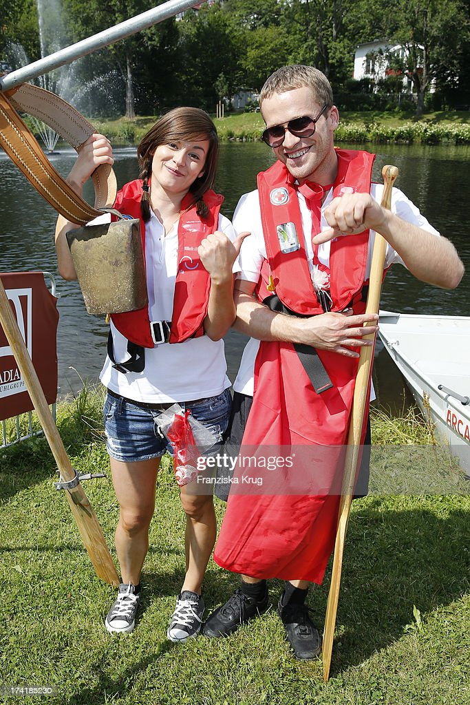 Dominic Saleh-Zaki and Diane Willems attend the Charity Event Benefitting Flood Victims on July 20, 2013 in Grafenau, Germany.