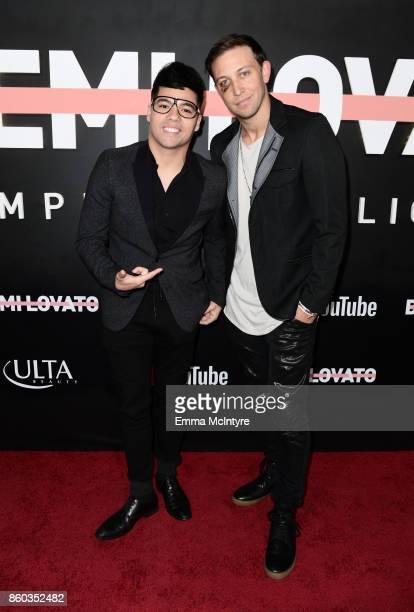Dominic Sandoval aka D'trix and Matt Steffanina attend the 'Demi Lovato Simply Complicated' YouTube premiere at The Fonda Theatre on October 11 2017...
