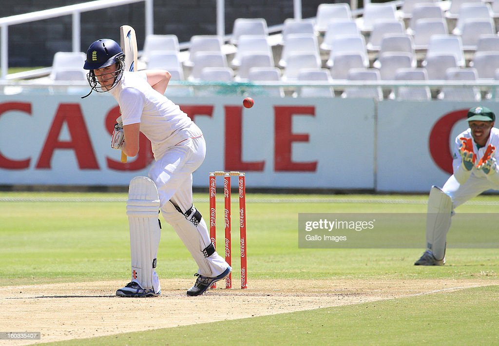 Dominic Sibley of England during day 3 of the U/19 1st Youth Test match between South Africa and England at Sahara Park Newlands on January 29, 2013 in Cape Town, South Africa