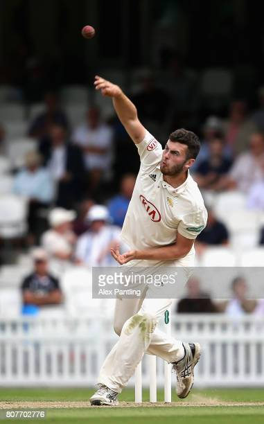 Dominic Sibley of Surrey Bowles during day two of the Specsavers County Championship Division One match between Surrey and Hampshire at The Kia Oval...