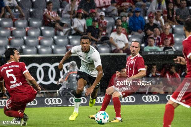 Dominic Solanke in dribling during the Audi Cup 2017 match between Bayern Muenchen and Liverpool FC at Allianz Arena on August 1 2017 in Munich...