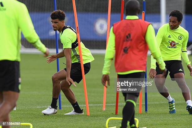 Dominic Solanke of Chelsea during a training session at Chelsea Training Ground on September 30 2016 in Cobham England