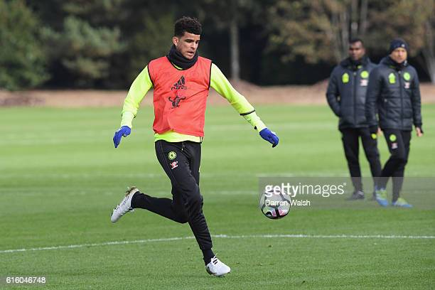 Dominic Solanke of Chelsea during a training session at Chelsea Training Ground on October 21 2016 in Cobham England
