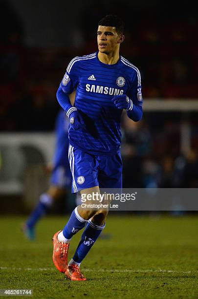 Dominic Solanke of Chelsea during the Round of 16 in the UEFA Youth League match between Chelsea Fc and FC Zenit at the ESS Stadium on February 25...