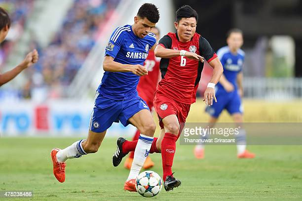 Dominic Solanke of Chelsea FC run with the ball during the international friendly match between Thailand AllStars and Chelsea FC at Rajamangala...