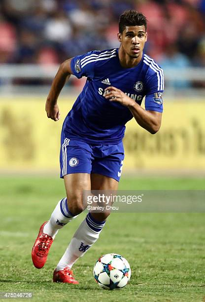 Dominic Solanke of Chelsea in action during the international friendly match between Thailand AllStars and Chelsea FC at Rajamangala Stadium on May...