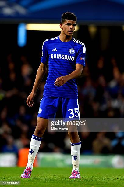 Dominic Solanke of Chelsea looks on during the UEFA Champions League Group G match between Chelsea FC and NK Maribor at Stamford Bridge on October 21...