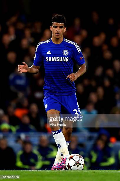 Dominic Solanke of Chelsea runs with the ball during the UEFA Champions League Group G match between Chelsea FC and NK Maribor at Stamford Bridge on...