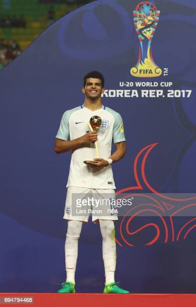 Dominic Solanke of England poses with the Golden Ball Award after the FIFA U20 World Cup Korea Republic 2017 Final between Venezuela and England at...