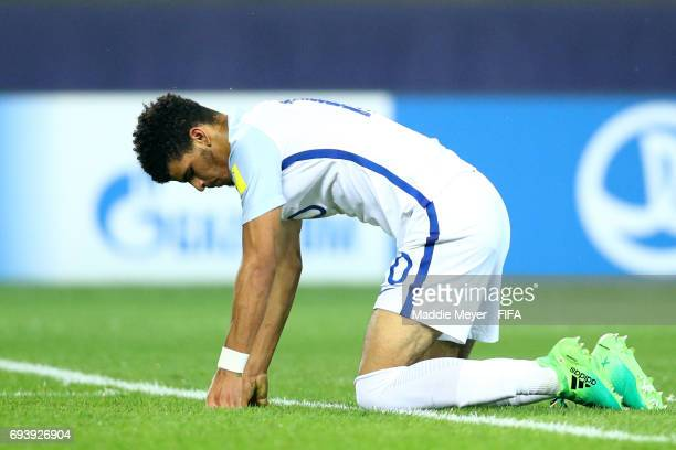 Dominic Solanke of England reacts after missing a shot on goal during the FIFA U20 World Cup Korea Republic 2017 Semi Final match between Italy and...