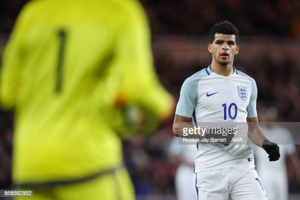 Dominic Solanke of England U21 during the UEFA European Under 21 Championship Qualifiers fixture between England U21 and Scotland U21 at Riverside...
