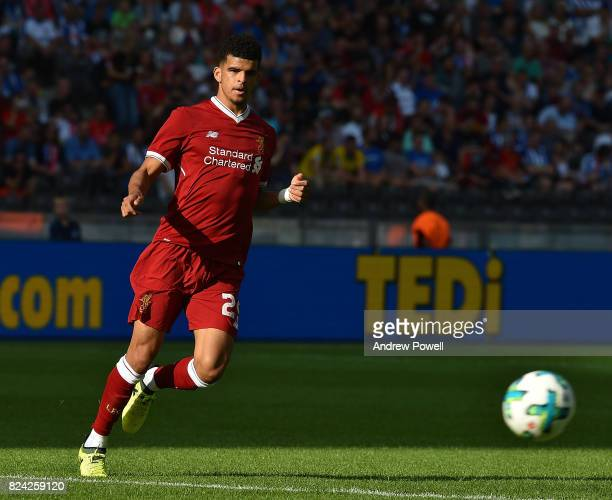 Dominic Solanke of Liverpool during the preseason friendly match between Hertha BSC and FC Liverpool at Olympiastadion on July 29 2017 in Berlin...