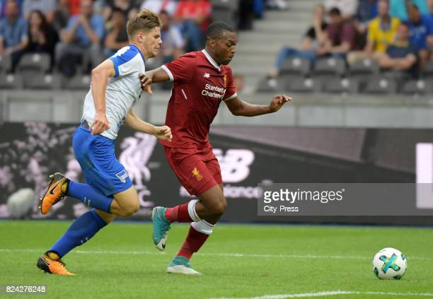 Dominic Solanke of Liverpool FC and Daniel Sturridge of Liverpool FC during the test match between Hertha BSC and Liverpool FC on july 29 2017 in...