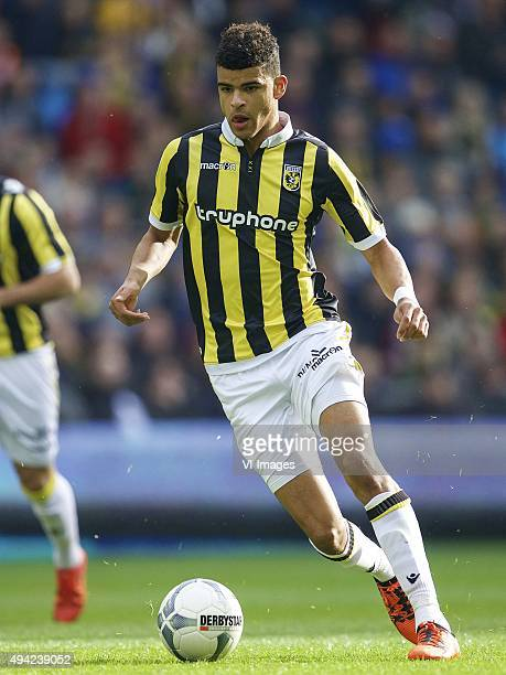Dominic Solanke of Vitesse during the Dutch Eredivisie match between Vitesse Arnhem and Ajax Amsterdam at Gelredome on October 25 2015 in Arnhem The...