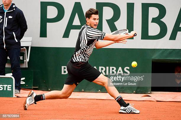 Dominic Thiem during the day thirteen of the French Open 2016 on June 3 2016 in Paris France