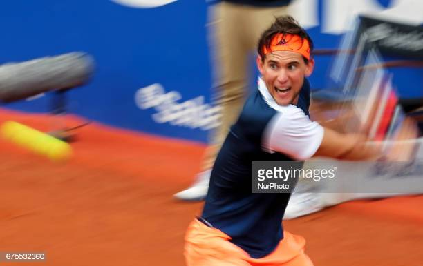 Dominic Thiem during the match against Rafa Nadal corresponding to the Barcelona Open Banc Sabadell on April 30 2017